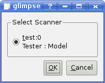 Scanner selection dialog (libksane)